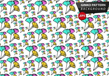 Ginko Pattern Background Vector - Free vector #353131