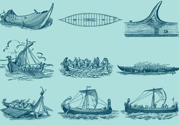 Antique Ship Vectors - vector gratuit #353141
