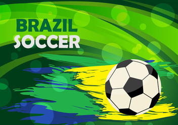 Brazil Soccer Background Vector - Free vector #353161