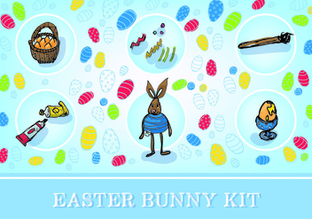 Easter Free Bunny Kit Vector - бесплатный vector #353191
