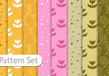 Floral Decorative Pattern Set - vector gratuit #353211