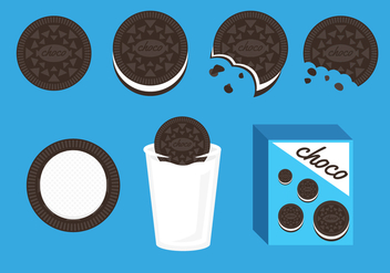 Oreo Cookies Illustration Vector - vector gratuit #353221