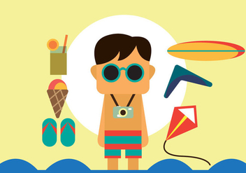 Free Beach Summer Vector Pack - Free vector #353241
