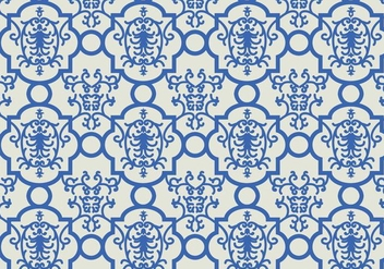 Blue Floral Pattern Background - Free vector #353301