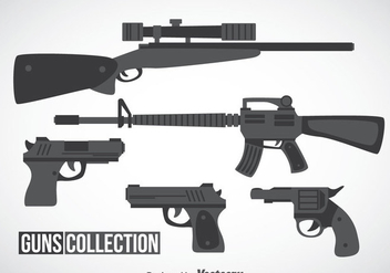 Guns Collection Vector - бесплатный vector #353321