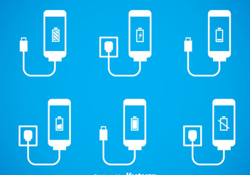 Phone Charger Icons Sets - vector gratuit #353441