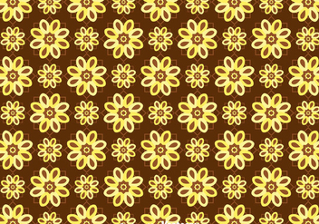 Batik Flower Background Vector - Free vector #353451