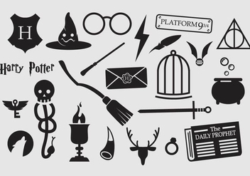 Harry Potter Vector Icons - Kostenloses vector #353521