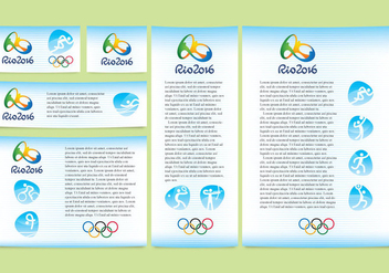 Blue Rio Olympic Design Vectors - vector #353541 gratis