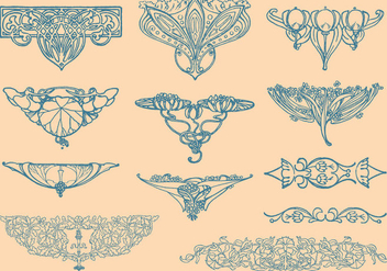 Art Nouveau Vector Elements - Kostenloses vector #353551