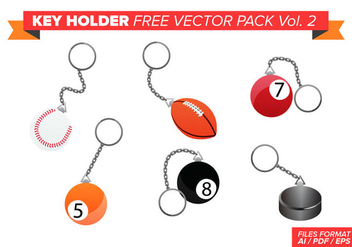 Key Holder Free Vector Pack Vol. 2 - vector #353561 gratis