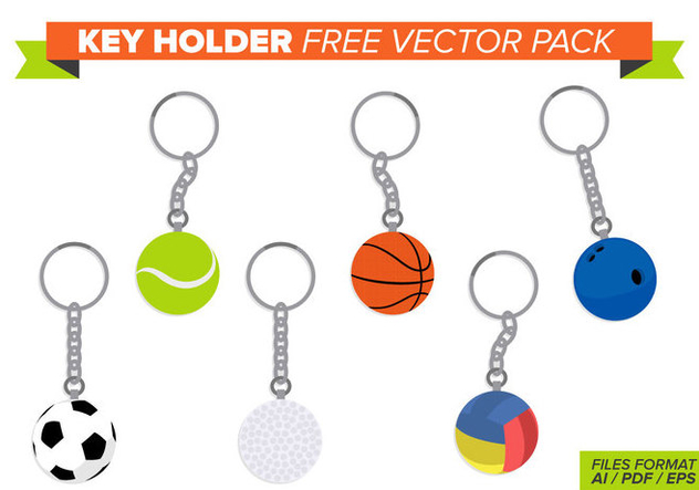 Key Holder Free Vector Pack - vector gratuit #353581