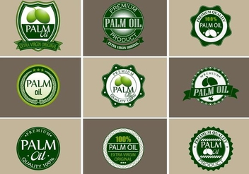 Palm Oil Vector set - бесплатный vector #353621