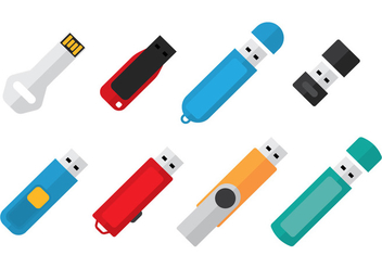 Pen Drive Icon - vector #353671 gratis