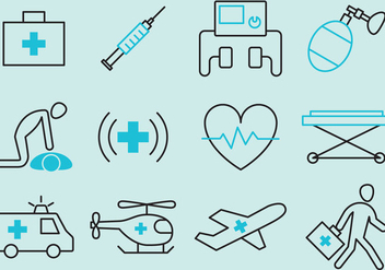 Medical Emergency Vector Icons - vector #353721 gratis