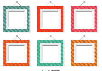 Assorted Color Vector Frames - vector #353761 gratis
