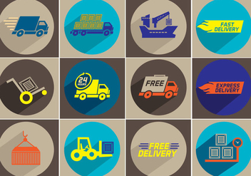 Delivery Vector Icons - бесплатный vector #353851