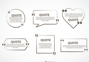 Gray Quotation Mark Text Bubble Vector Sets - Free vector #353901