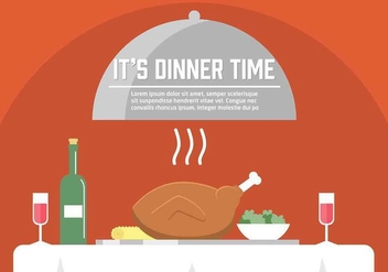 Free Vector Dinner Illustration - Free vector #353931