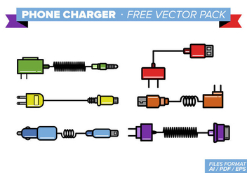 Phone Charger Free Vector Pack - vector gratuit #353971