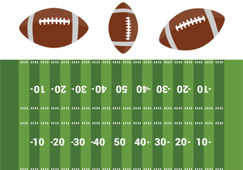 Free American Football Field Vector - Free vector #353981
