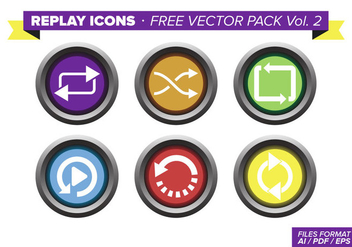Replay Icons Free Vector Pack Vol. 2 - vector #354001 gratis
