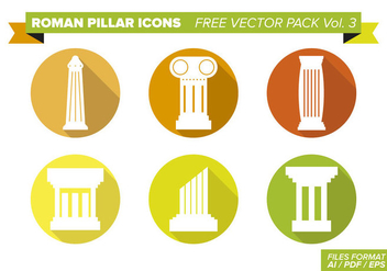 Roman Pillar Icons Free Vector Pack Vol. 3 - Free vector #354011
