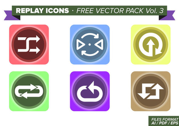 Replay Icons Free Vector Pack Vol. 3 - vector #354041 gratis