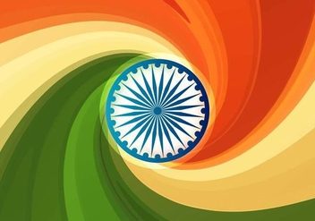 Free Vector Indian Flag Abstract Background with Swirls - Kostenloses vector #354051