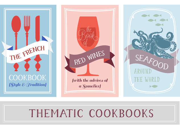 Free Various Thematic Cookbooks Vector Background - Free vector #354171