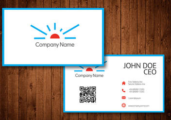 Sun Logo Business Card Template Vector - Free vector #354191