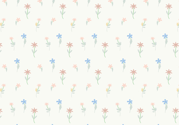 Pastel Flowers Pattern Background Vector - бесплатный vector #354221