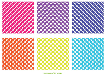 Assorted Color Diamond Shape Vector Patterns - Free vector #354231
