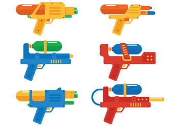 Water Gun Illustration - vector gratuit #354241