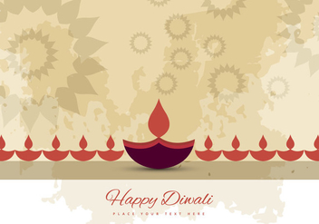 Greeting Card For Hindu Festival Diwali - vector gratuit #354411