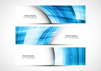 Blue Wave On Header For Website - vector gratuit #354441