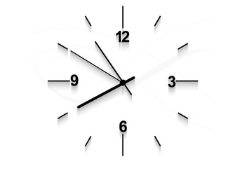 Clock Faced On White Background - vector gratuit #354491