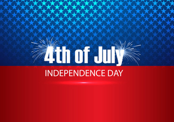 4th Of July Text On American Flag - vector #354531 gratis