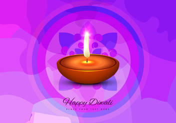 Happy Diwali Greeting Card - vector gratuit #354551
