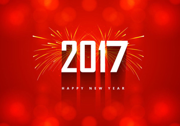 New Year 2016 Card With Firework - Kostenloses vector #354561