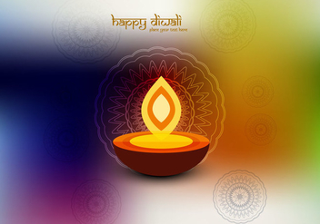 Oil Lamp On Colorful Background - vector gratuit #354601
