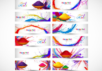 Designs Illustrating Happy Holi - бесплатный vector #354611
