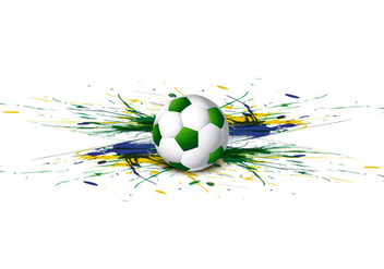Soccer With Colorful Watercolor - vector gratuit #354621