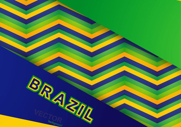 Colorful Pattern Of Brazilian Flag - Free vector #354631