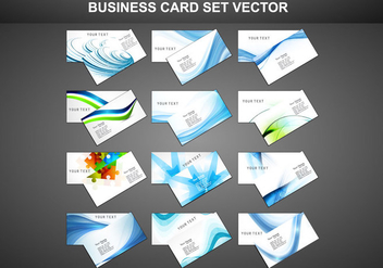 Set Of Business Card - vector gratuit #354681