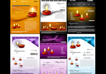 Website Template For Diwali - бесплатный vector #354691