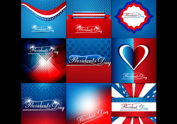 Set Of Colorful Banner For President Day - vector gratuit #354741