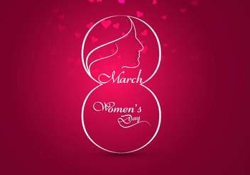 Creatively Designed Card For Women's Day - vector #354751 gratis