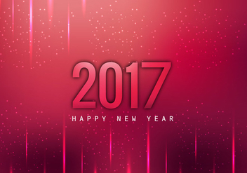 Glowing 2017 Happy New Year Card - бесплатный vector #354791