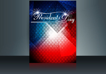 Brochure Of Presidents Day In United States Of America - бесплатный vector #354851